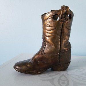 Bronze Australian Child's Cowboy Boot Statue